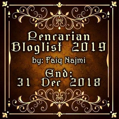 Segmen : Pencarian Bloglist Faiq Najmi 2019