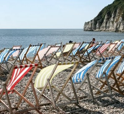 beach sling chairs in England