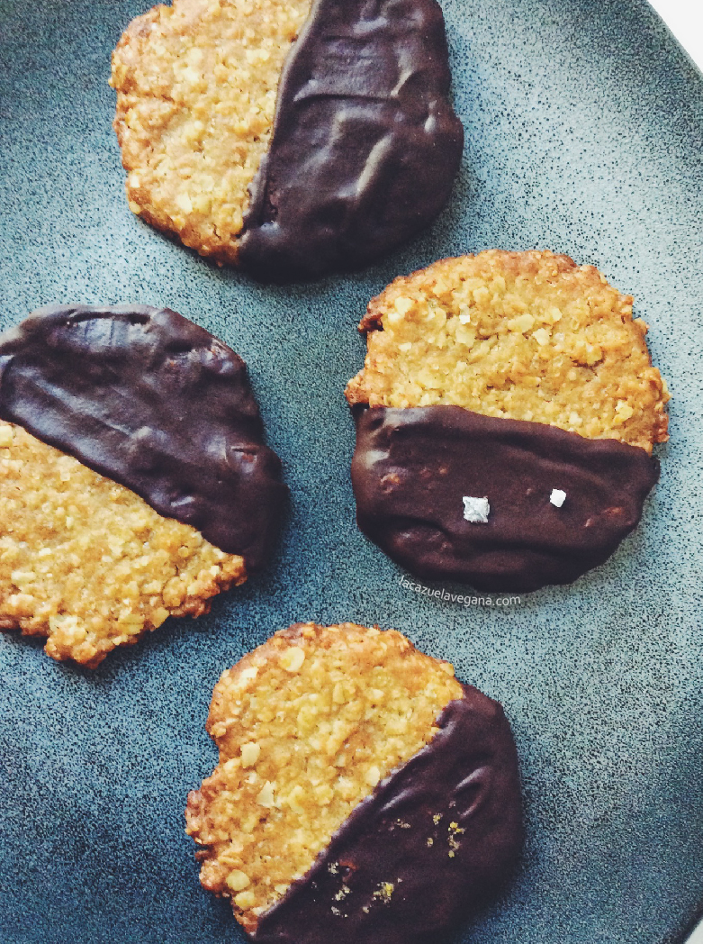 Galletas havreflarn de avena con chocolate negro
