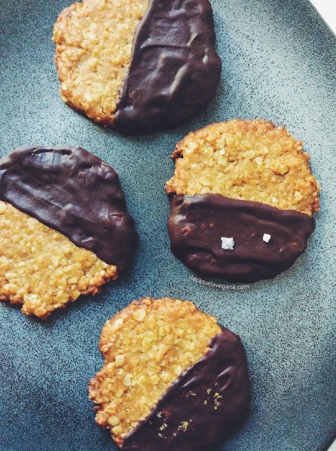 Havreflarn - Galletas veganas de avena y chocolate negro