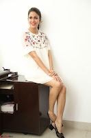 Lavanya Tripathi in Summer Style Spicy Short White Dress at her Interview  Exclusive 120.JPG