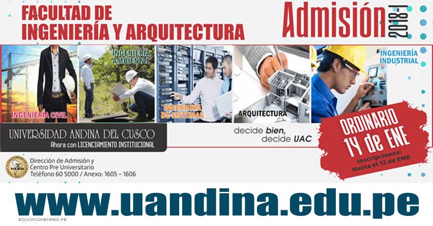 UAC: Resultados Examen 2018-1 (14 Enero) Lista de Ingresantes Admisión Ordinario - Universidad Andina del Cusco - UANDINA - www.uandina.edu.pe