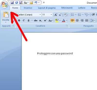 Mettere la password ad un file word 2007