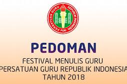 Download Pedoman Festival Menulis Guru PGRI Tahun 2018