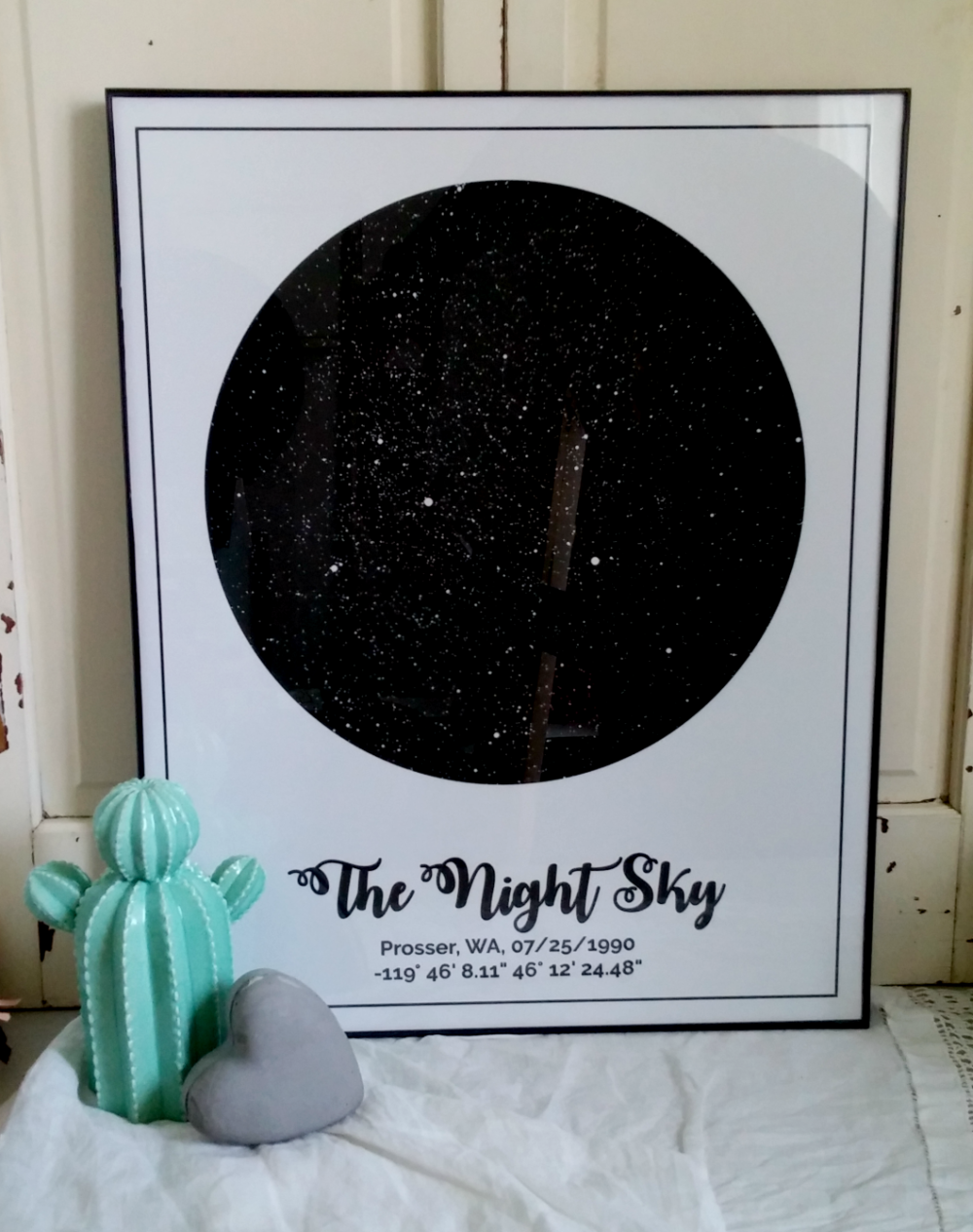 Star Map Art.Modern Map Art A Map Of The Stars Little Vintage Cottage