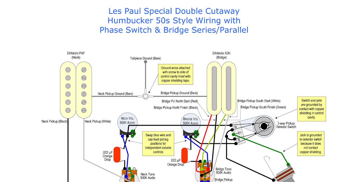 Gibson Les Paul P90 Wiring Diagram Guitar 2 Humbucker 1 Volume Tone Harry's Mods: Controls Upgrade
