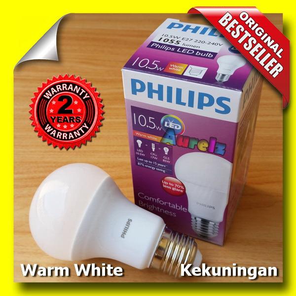 lampu led philips 10.5 watt warm white