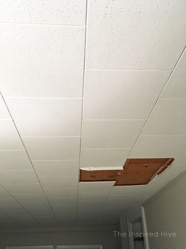 How to remove old ceiling tiles