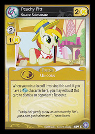 My Little Pony Peachy Pitt, Suave Salesmare The Crystal Games CCG Card
