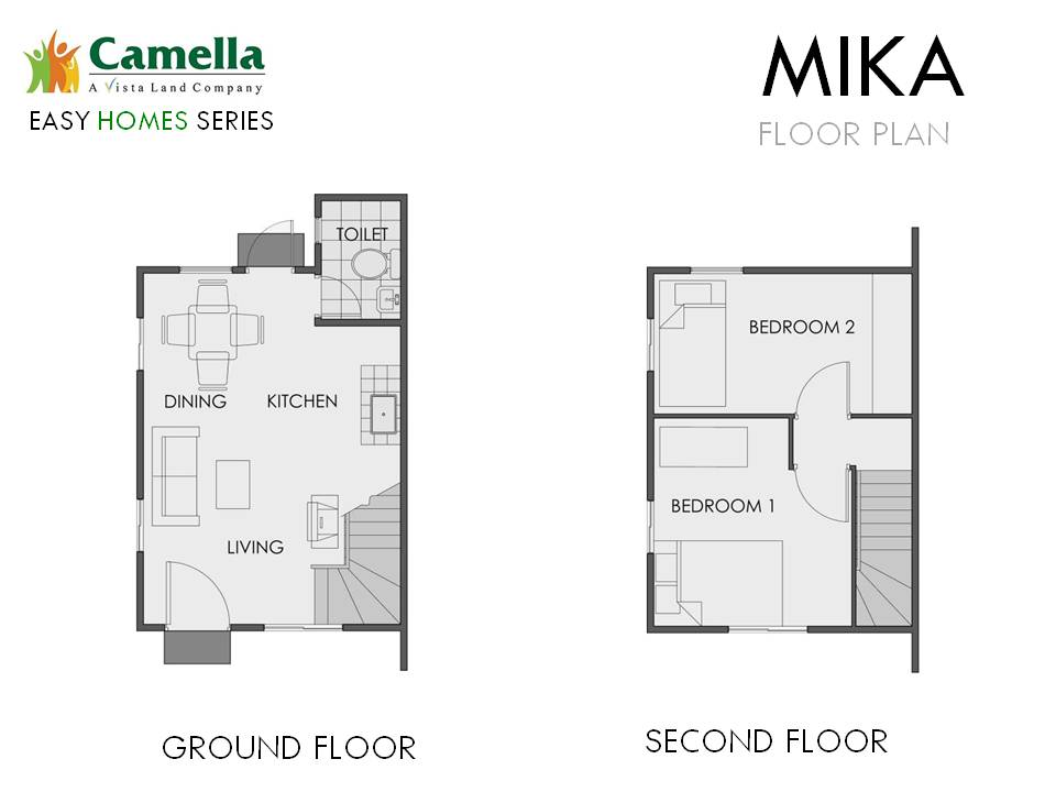 Floor Plan of Mika - Camella Bucandala | House and Lot for Sale Imus Cavite