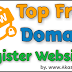 Top Free Domain Register Websites