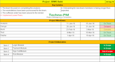 Project Management Status Report Free