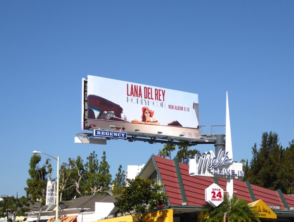 Lana Del Rey Honeymoon billboard