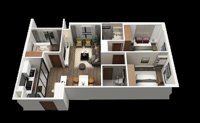 Thiết kế căn hộ chung cư Bea sky