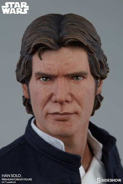 osw.zone Sideshow Collectibles 1 / 4th scale Harrison Ford Han Solo 20-inch high PremiumFormat ™ Abbildung