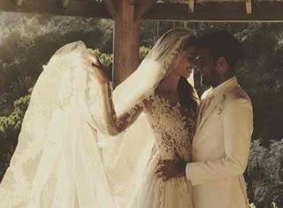 Brazilian footballer, Dani Alves holds secret wedding with super model, Joana Sanz in Ibiza