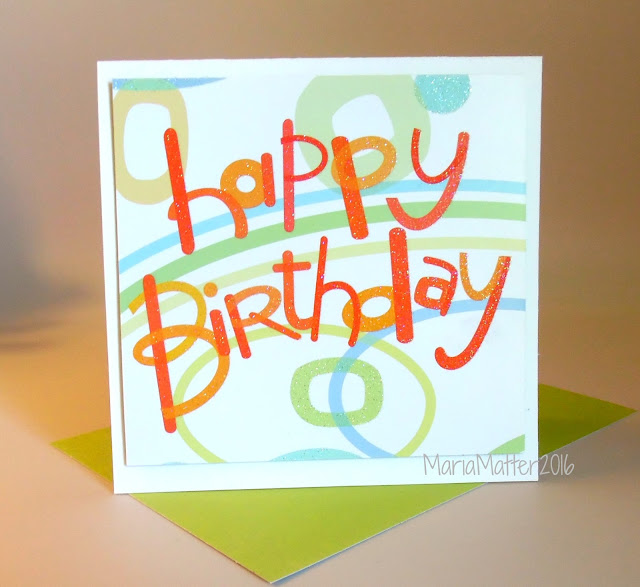 Recycling cards, Happy Birthday