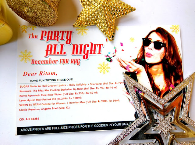 The December Party All Night X'mas FAB BAG