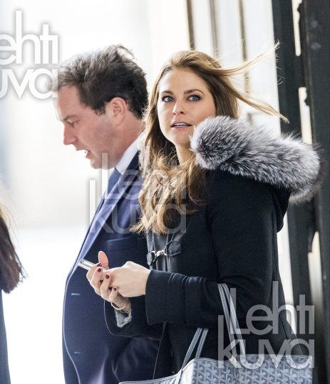 Princess Madeleine and her fiance Chris O'Neill  attended a planning meeting at the Royal Palace for the upcoming wedding in Stockholm.