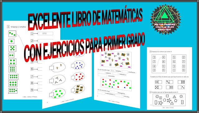 LIBRO DE EJERCICIOS PARA PRIMER GRADO DE PRIMARIA - MATEMÁTICAS