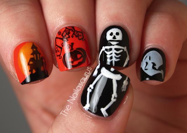 Маникюр на Хэллоуин. дизайн ногтей http://prazdnichnymir.ru/