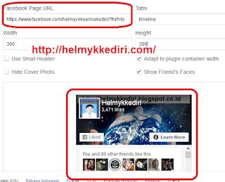 Cara memasang Fanspage didalam Blog