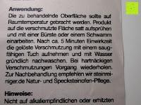 Steinofen-Reiniger Anwendung: Naturstein und Specksteinofen-Pflegeset 4 tlg.