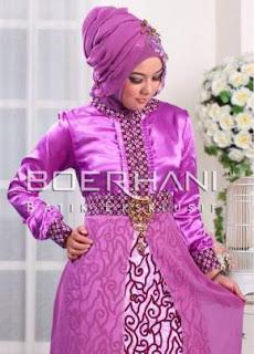10 Desain Baju Batik Muslim Kombinasi Dengan Kain Polos