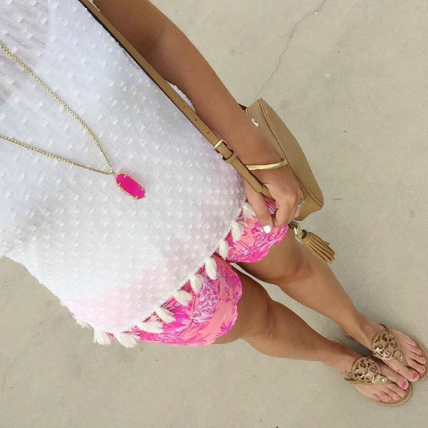 summer in lilly, tassel top
