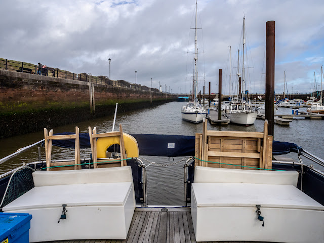 Photo of Ravensdale's aft deck with the bimini down