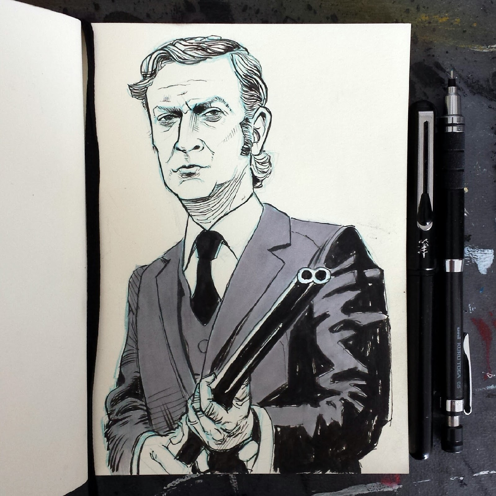 Get Carter Illustration Jack Carter shotgun