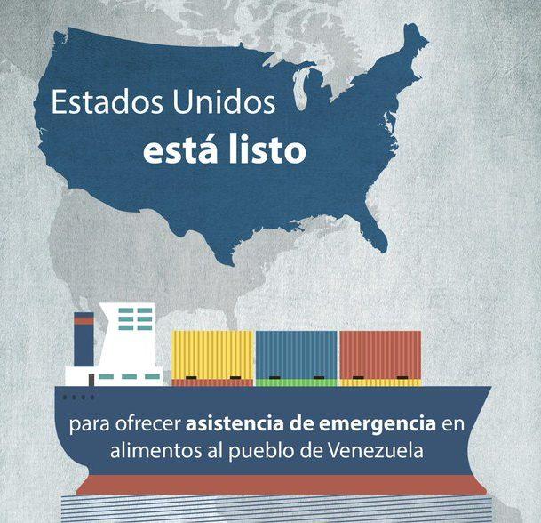 Embajada de EUA: listos para enviar ayuda a Venezuela si acepta el gobierno