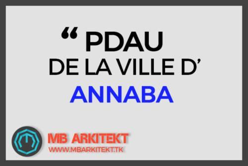 PDAU DE LA VILLE D'ANNABA