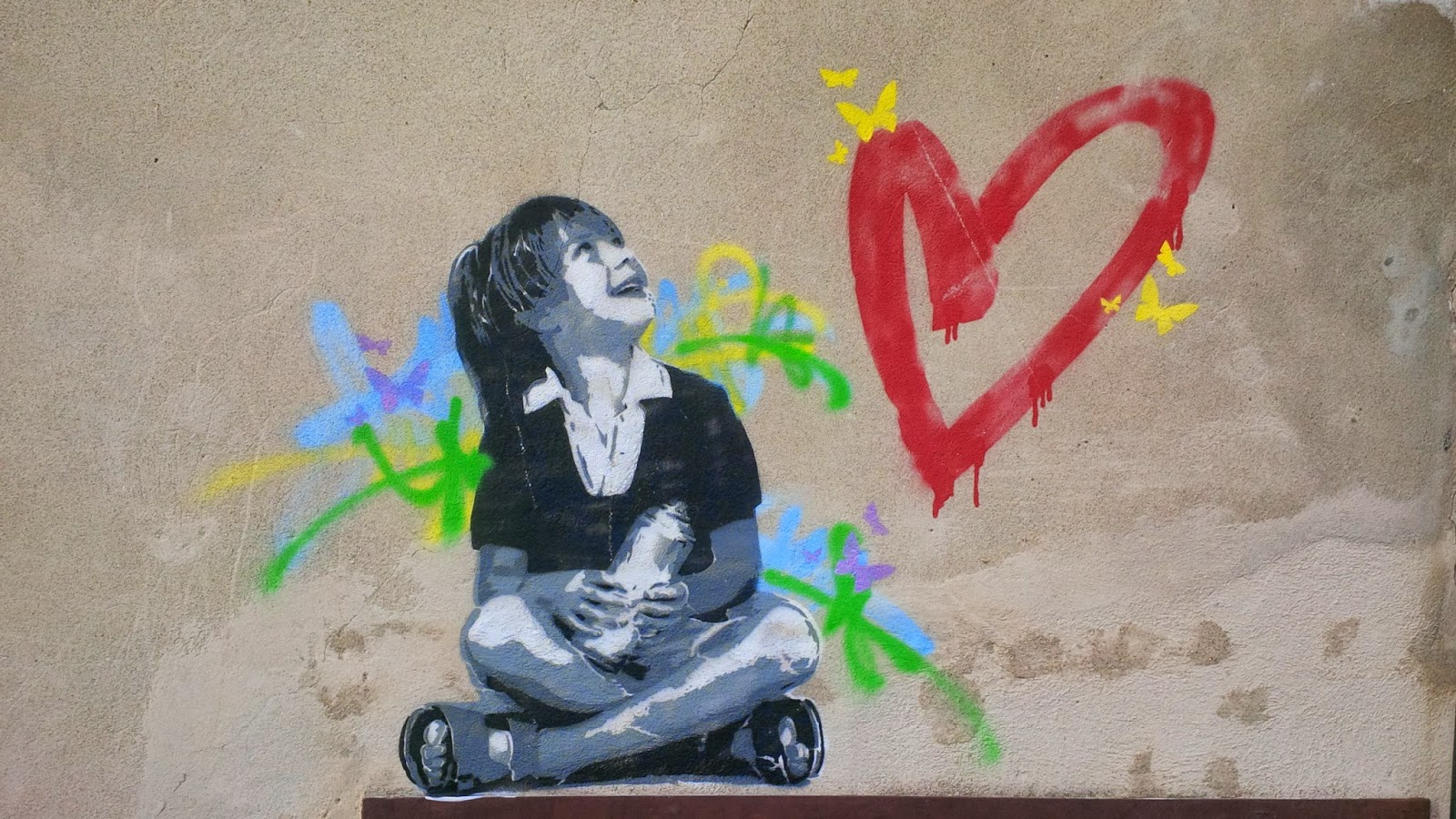 A grafitti in Arqua Petrarca to make your heart smile