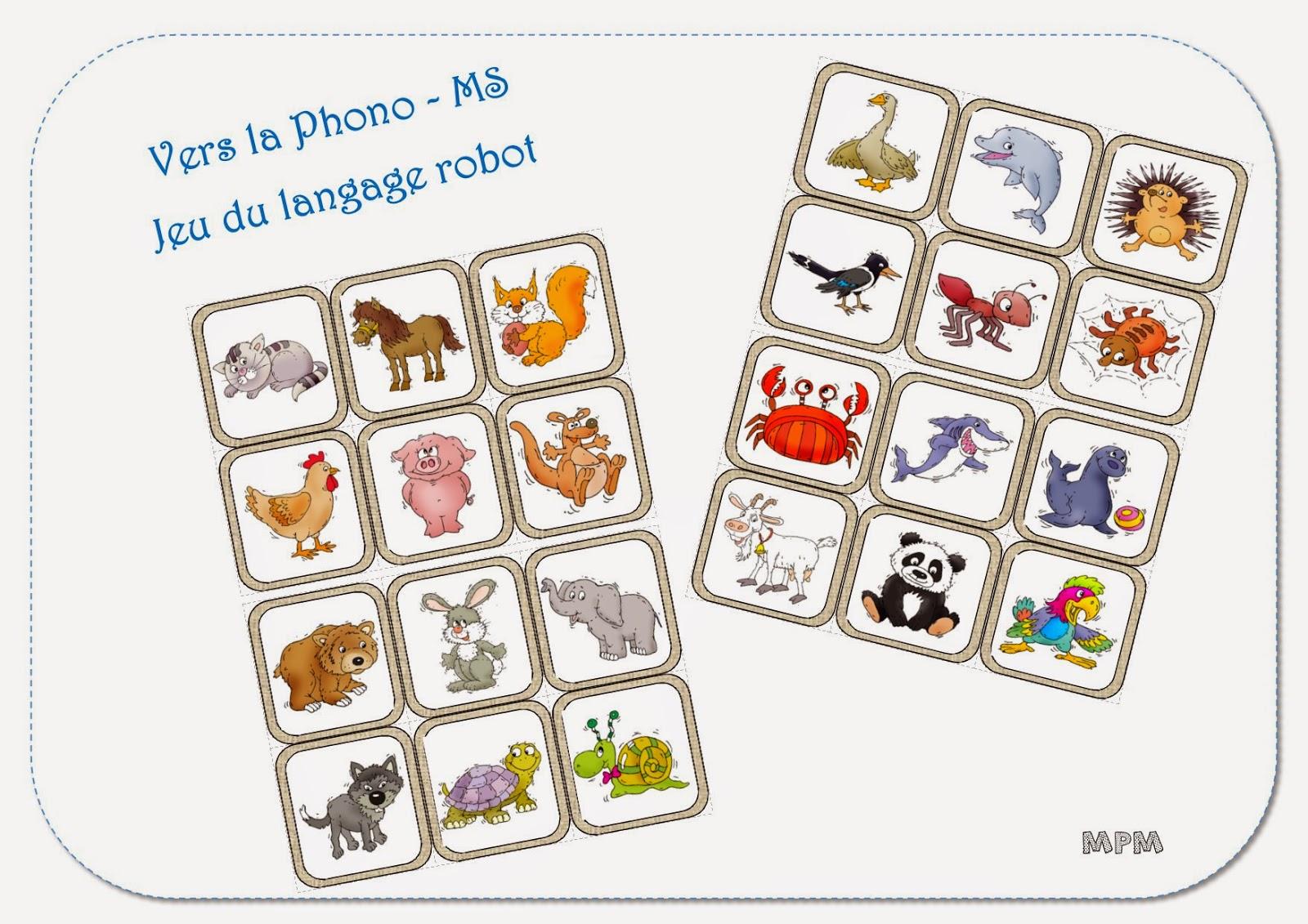 Phonologie MS - imagier des animaux