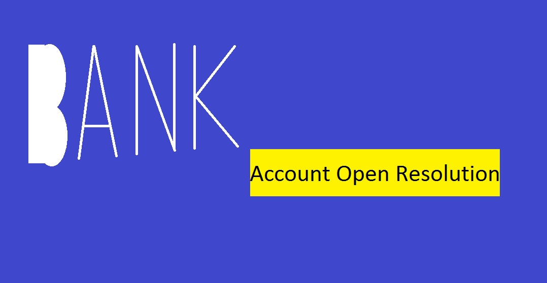 Board Resolution (New Bank Account) | Company Secretary Services