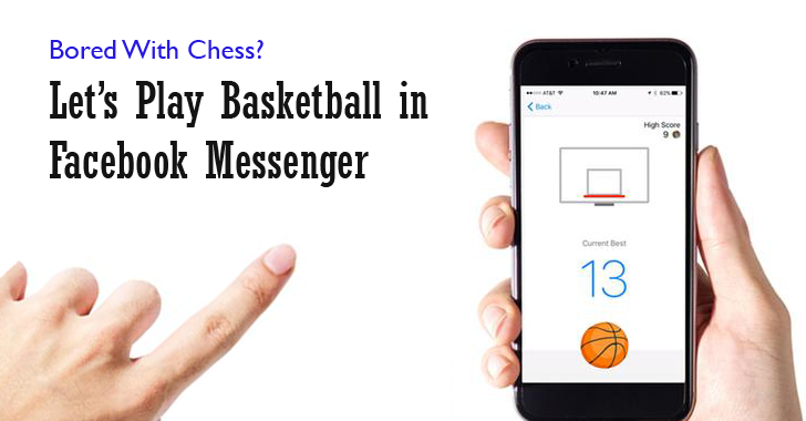 play basketball on Facebook messenger basketball