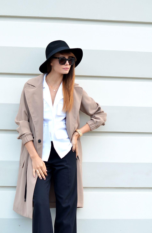 jesien 2015 moda | czarne spodnie | zegarek z drewna | blogi o modzie | blogerka modowa