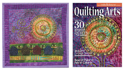 mother ship quilting arts cover fall 2012