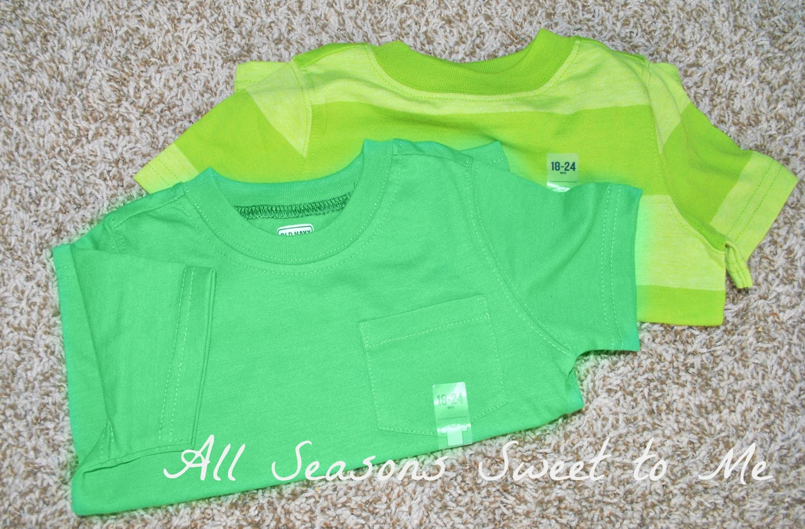 f2846f673 ... one must have something green to wear on St. Patrick's Day or risk  getting pinched! I found my little guy two new shirts at Old Navy for just  $4 each!