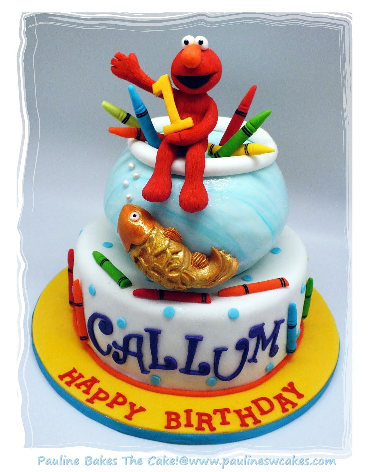 PAULINE BAKES THE CAKE Callums 1st Elmo Cake Elmo Loves His