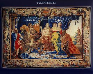 TAPIZ S. XVII. DIDO DESPIDE A ENEAS