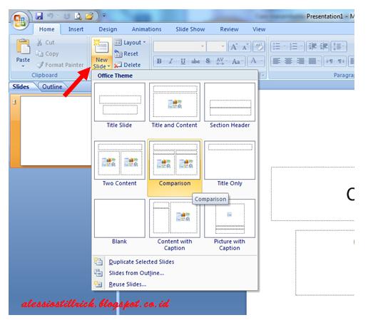 cara menambahkan slide baru di microsoft powerpoint