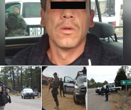 """Abaten a """"El Gabacho"""" ó """"El 14"""" jefe de plaza de La Gente Nueva"""" del Cártel de Sinaloa en Guachochi Chihuahua y capturan a su escolta"""