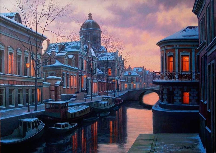 18-Alexey-Butyrsky-Architecture-in-Paintings-of-Cityscapes-at-Night-www-designstack-co