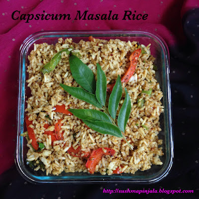 Capsicum Masala Rice ~~ Bell pepper Fried Rice