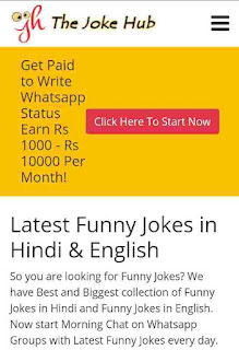 Make money online by writing jokes in hindi
