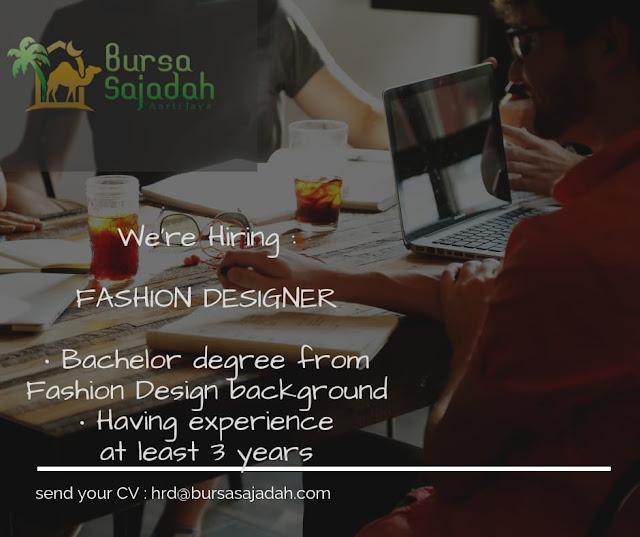 Lowongan Kerja Fashion Designer Bursa Sajadah