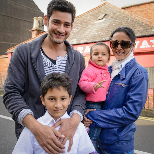 Mahesh Babu With Family HD Images