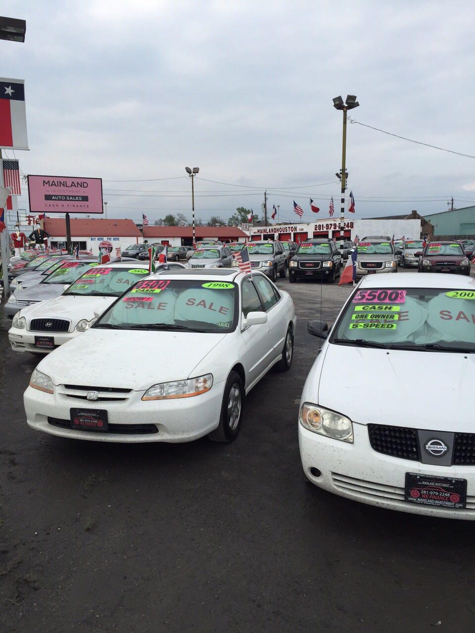 Mainland Investment Auto Sales: Used Cars Houston